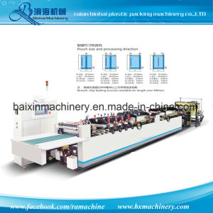 4 Side Seal Pouch Bag Making Machine+Side Gusset pictures & photos