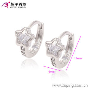 90334 New Fashion Rhodium Elegant Star Zircon Jewelry Earring in Copper Alloy pictures & photos