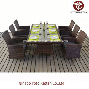 Outdoor Wicker Dining Set with Steel Frame (1212) pictures & photos