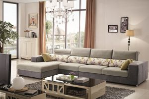 China Modern Home Furniture Living Room Sets Leather Sofa L Shape Design pictures & photos