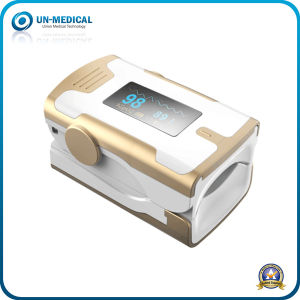 New-OLED Display Fingertip Pulse Oximeter with Pulse-Bar (golden red) pictures & photos