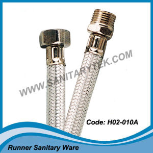Flexible Braided Hose in Aluminum Alloy Wires Braided (H02-010A) pictures & photos