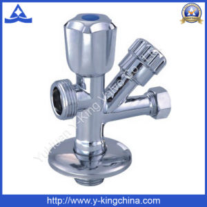 Polished Brass Washing Five-Way Angle Valve (YD-5012) pictures & photos