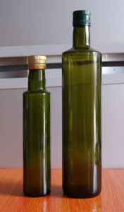 250ml 500ml Dark Green Olive Oil Bottle with Aluminum Cap pictures & photos