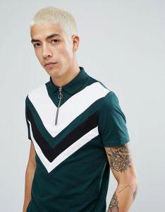 Slim Fit Paisley Men′s Zip Neck Polo Shirt pictures & photos