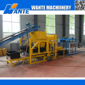 Wante Machinery Qt4-25 Hydraulic Pressed Fully Automatic Hollow/Solid/Interlocking/Concrete Brick Machine Price for Sale pictures & photos