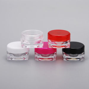 3G Cosmetic Bottle for Eye Cream Nail Square Cream Jar pictures & photos