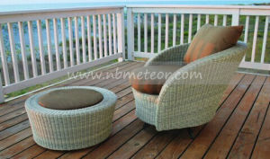 Mtc-170 Outdoor Rattan Chair with Footstool Wicker Furniture Set pictures & photos