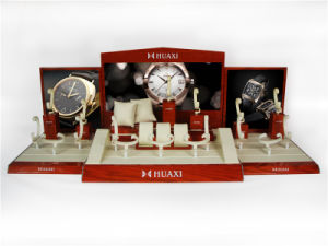 Guangzhou Huaxin Vertical MDF Wooden Counter Watch Display pictures & photos