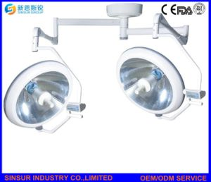 Double Head Medical Equipment Shadowless Ceiling Surgical Operating Lamp pictures & photos