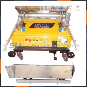 Auto Gypsum Mortar Plastering Machine for Wall to Brazil pictures & photos