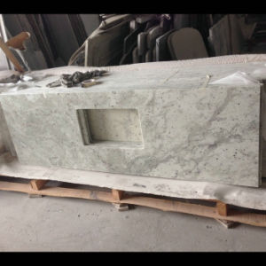 High Quality River White Granite Kitchen Island pictures & photos