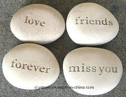 Engraved Stone for Wish Words pictures & photos
