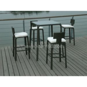 Outdoor PE Rattan Bar Set Quality Bar Furniture (BF-1006) pictures & photos