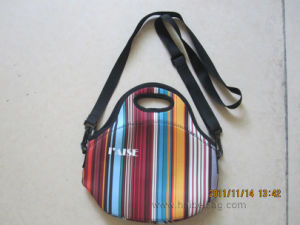 Neoprene Lunch Cooler Bag with Zipper and Handle pictures & photos