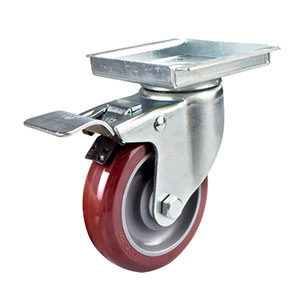 5inches Middle Duty Swivel Polyurethane Caster with Total Brake pictures & photos