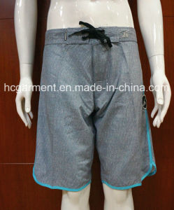 Quickly Dry Swimming Wear Strip Polyester/Cotton Board Shorts for Man /Women pictures & photos
