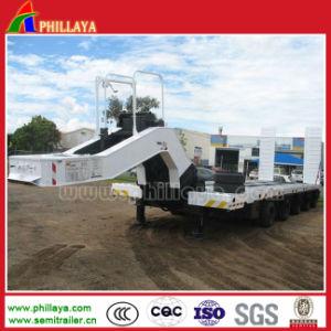 Hydraulic Steering Axles Drop Deck Gooseneck Truck Semi Crane Trailer pictures & photos