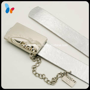 Decorative Buckle Silver Leather Belt for Women pictures & photos