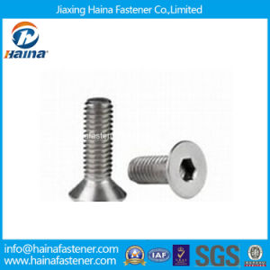 Stock DIN7991 Stainless Steel Hex Socket Countersunk Head Machine Screw pictures & photos