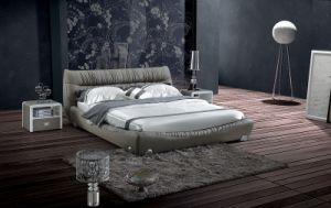New Style Bed Room Genuine Leather Bed (SBT-5872) pictures & photos