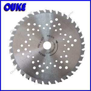 Multi Pin Hole Tct Circular Saw Blade for Grass pictures & photos