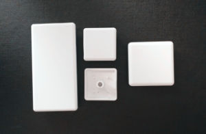 White Black Nylon ABS Cover for Aluminum Profile 4545 pictures & photos