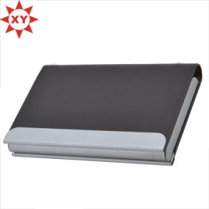 PU Leather and Stainless Steel Business Name Card Case Holder pictures & photos