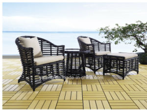 Popular Design Wicker Furniture Outdoor Garden Dining Set with Table and Chairs (YT615) pictures & photos