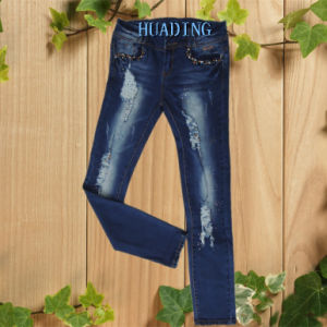 European Style Top Quality Women′s Ladies Fashion Ripped Jeans (HDLJ0019) pictures & photos