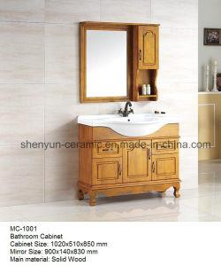 Bathroom Furniture Bathroom Cabinet with Ceramic Wash Basin (MC-1001) pictures & photos