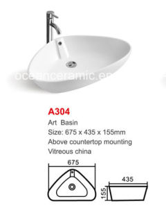 Ceramic Washing Art Basin Triangle New Model No. A304 pictures & photos