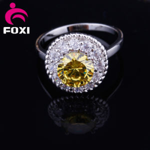 Fashion New Styles Real Gold CZ Stone Rings pictures & photos
