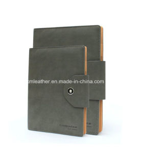 Business Leather Bound A5 Spiral Organizer Notebook pictures & photos