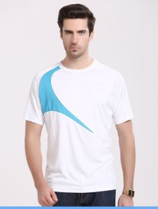 Casual and Sport T-Shirt White Color with Printing Men′s Suumer T-Shirt