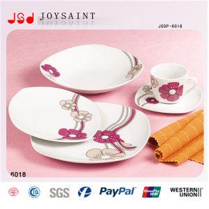 12PCS Square Shape Porcelain Tableware