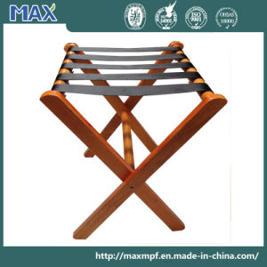 Customization Folding Furniture Hotel Bedroom Tray Stand Solid Wooden Luggage Rack pictures & photos