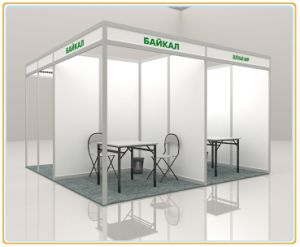 3*3*2.5m Aluminum Extrusion Trade Show Stand/ Exhibition Display Booth pictures & photos