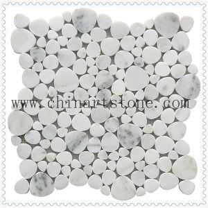 China White Carrara Fan /Round Marble Granite Stone Pattern Mosaic pictures & photos