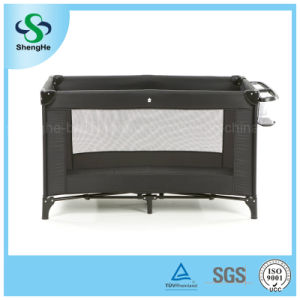 Simple Comfortable Black Baby Crib (SH-A10)