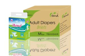 Senior Cloth-Like Soft Breathable Adult Diapers with Magic Tapes pictures & photos