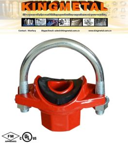 FM UL Approved Ductile Iron Grooved U-Bolted Mechanical Tee pictures & photos