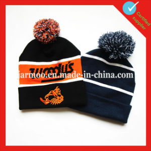 Football High Quality Cheap Knit Winter Hats pictures & photos