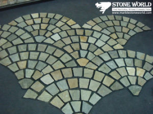 Mesh Mixed Color Flagstone Mosaic Tiles for Wall/Flooring (mm086) pictures & photos