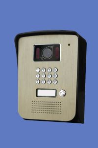 7 Inch Hands Free 4 Wires Color Video Door Phone with ID Card and Password pictures & photos