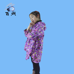 Cute Kids Colored Rain Poncho with Hood pictures & photos