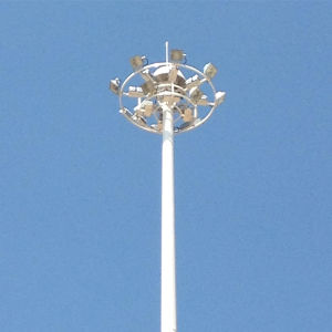 30/40/50m Q345 Steel Polygonal High Mast Lighting Pole pictures & photos