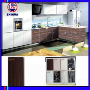 Wood Patten High Glossy Acrylic Door Kitchen Cabinet (ZH966) pictures & photos
