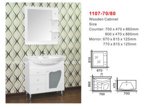Bathroom Cabinet (NO. 1107) Assembly Cabinet, Counter Basin, Mirror pictures & photos