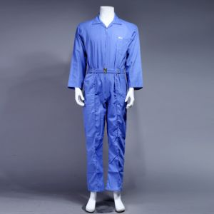 100% Polyester High Quality Cheap Dubai Safety Coverall Workwear (BLUE) pictures & photos